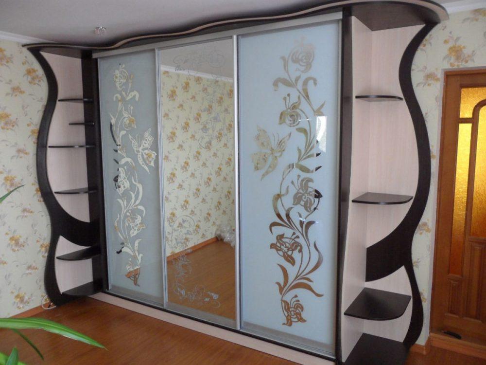 """Шкаф-купе в гостиную 014 студия мебели """"мастер"""", уфа."""