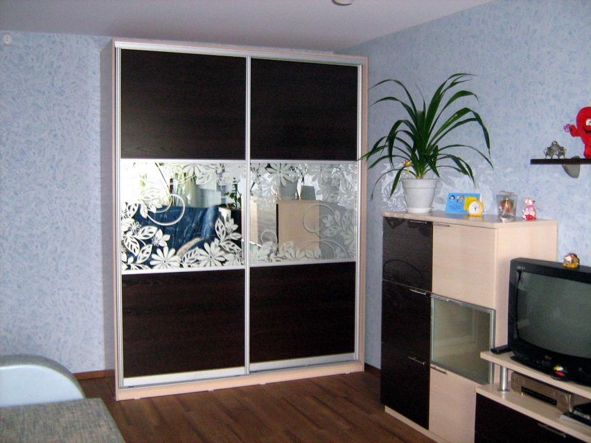 """Шкаф-купе в гостиную 020 студия мебели """"мастер"""", уфа."""