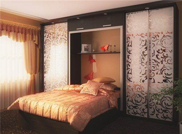 Шкафы купе дизайн в спальню маленькую 35